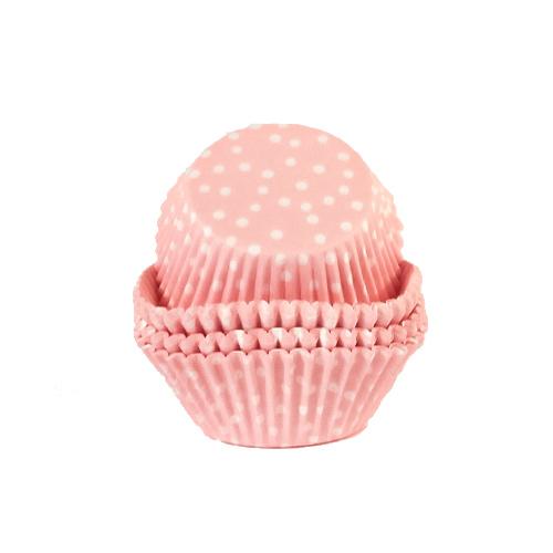 Estuches Para Cupcakes Rosas Con Lunares - Paquete De 72