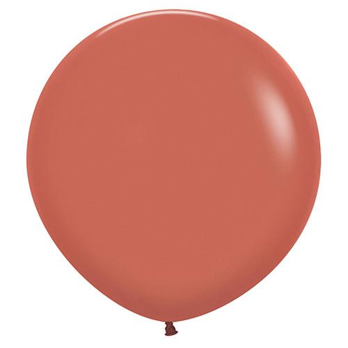 Globos De Látex Biodegradables De Terracota Naranja Quemado De Moda 60Cm / 24 Pulgadas - Paquete De 3