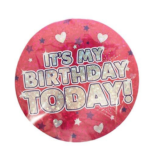 Rosa Es Mi Cumpleaños Hoy Insignia Holográfica 15Cm