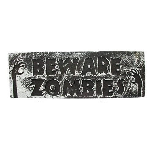 Cuidado Con Los Zombies Placa De Pared De Halloween Decoración Colgante 48Cm