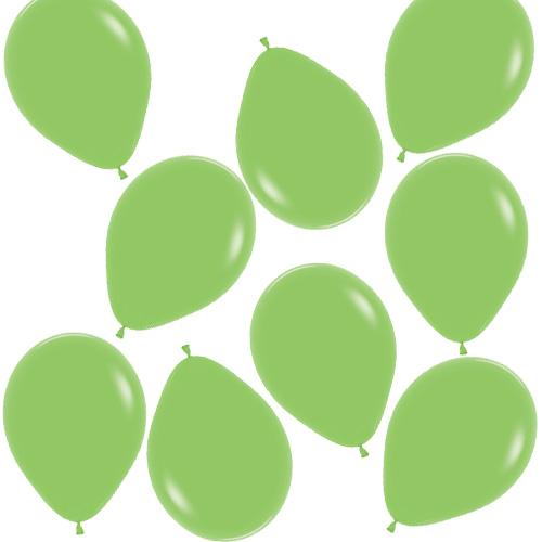 Mini Globos De Látex Biodegradables De Color Verde Lima Sólido De Moda 13 Cm / 5 Pulgadas - Paquete De 100