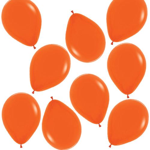 Mini Globos De Látex Biodegradables De Color Naranja Sólido De Moda 13 Cm / 5 Pulgadas - Paquete De 100