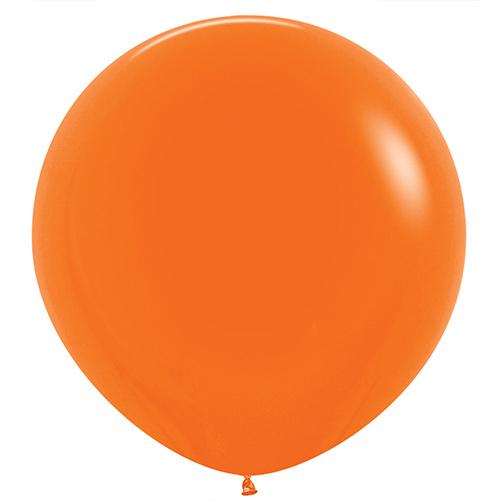 Globos De Látex Gigantes Redondos De Color Naranja Sólido De Moda 91Cm / 36 In - Paquete De 2