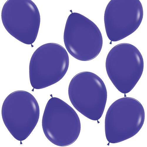 Mini Globos De Látex Biodegradables De Color Púrpura Sólido De Moda 13 Cm / 5 Pulgadas - Paquete De 100