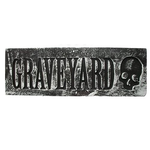 Cementerio De Halloween Placa De Pared Colgante Decoración 48Cm